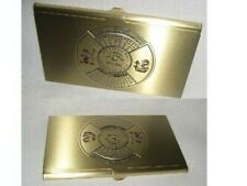 2 Pieces Business Card Case With Dauerkalender- Brass Tarnish Resistant