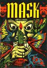 Mask Comics 01 Comic Book Cover Art Giclee Reproduction on Canvas
