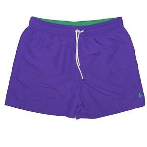 Polo Ralph Lauren Swimwear Purple Traveler Swim Trunks Shorts Mens Size XL