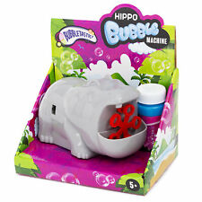 Bubbletastic Novelty Hippo Bubble Machine Family Fun Bubbles Garden Activities
