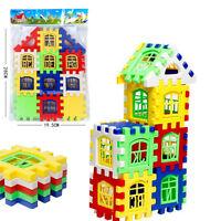 24pcs Colorful Baby Kids Children House Building Block Educational Puzzle Toy