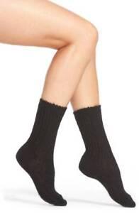HUE Socks 2 pair Socks Ribbed Mohair Blend Socks One Size