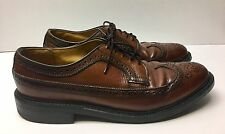 ViNTAGE DEXTER BROWN PEBBLED LEATHER CORDOVAN SHELL WINGTIP OXFORDS!  11C