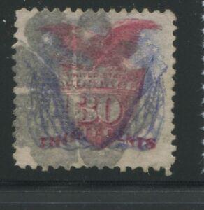 1869 États-unis Envoi Tampon #121 D'Occasion F/VF Déguisement Liège Postal