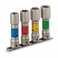 TONE Thin Long Wheel Nut Socket Set Impact Insertion Angle 12.7 mm HA404LN Japan