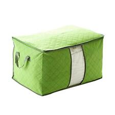 Bamboo Charcoal Clothes Blanket Storage Organizer Box Bag Closet Fold Green GA