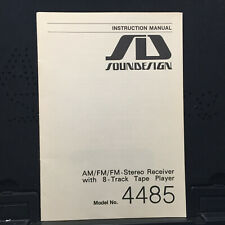 Soundesign Owner Manual for the 4485 Receiver 8-Track ~ Original
