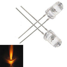 50PCS 5mm Yellow Round High Power Super Bright Water Clear LED Leds Lamp Bulb