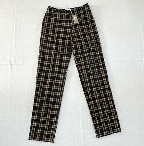 HAZARD COUTURE women's tartan trousers NEW