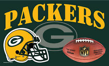 """Nfl 3' x 5' Deluxe Flag, Green Bay Packers, """"Packers"""" New"""