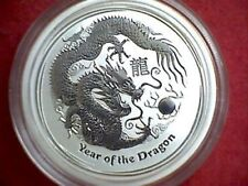 2012 Silver Year of The Dragon 1/2oz .999 Silver Perth Mint Australia 50 Cents