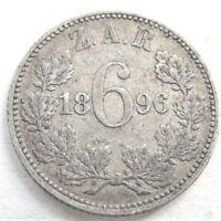 1896 ZAR SOUTH AFRICA,6 Pence grading FINE / good FINE.