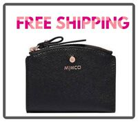 FREE POST MIMCO BLACK ROSE GOLD SUBLIME CARD WALLET COIN PURSE MatteLeatherRRP69
