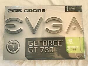 NEW EVGA NVIDIA GT 730 2GB GDDR5 PCI Express Graphics Video Card Low Profile LP