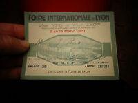 Ancienne carte d'Acheteur de la Foire Internationale de Lyon 1931
