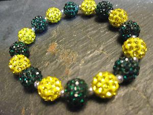 Green Bay Packers- Bling- Crystal-Rhinestone-Green/Yellow-Bracelet