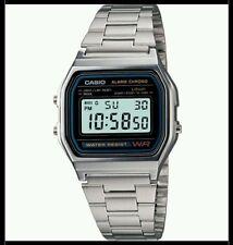 Orologio CASIO VINTAGE A158WA Uomo Donna Unisex Cronografo 1/100sec Sveglia Luce