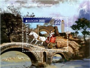 Albania Stamps 2020. Europa CEPT: Ancient Postal Routes. Block MNH