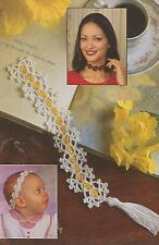 Crochet Pattern ~ Crocheted Ribbons Bookmark, Headband or Choker ~ Instructions