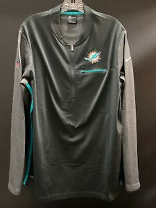MIAMI DOLPHINS TEAM ISSUED LONG SLEEVE 1/2 ZIPPER NIKE JACKET DRI-FIT NEVER WORN