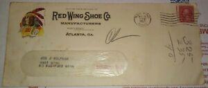 US Advertising Cover 1927 Redwing Shoes Indian Mailometer 2c Washington Stamp