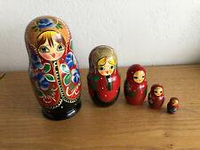 "Russian Nesting Stacking Dolls 5 Pcs H 6 3/4"""