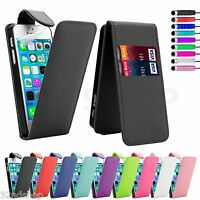 FLIP LEATHER CASE COVER FOR APPLE IPHONE 4 4S 5 SE 6 7 8  FREE SCREEN PROTECTOR
