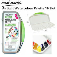 Mont Marte Airtight Watercolour Palette 16-Slots Artist Mixing Well Paint Supply