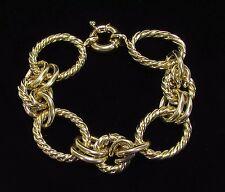 Goldtone Rope Chain Bracelet Various Textures