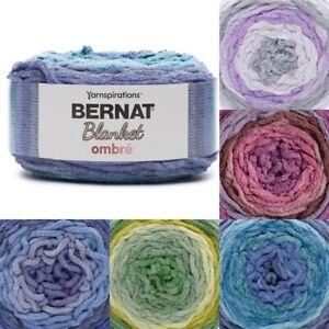 [BUY 10 GET 25% OFF] Bernat Blanket Ombre Yarn 300g, 100% polyester super chunky