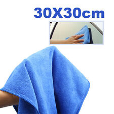 Blue Microfiber Car Dry Terry Absorbant Cloth Cleaning Towels Shop Rags 30x30cm