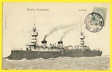 cpa Cachet ROCHEFORT sur MER en 1905 MARINE FRANÇAISE NAVY Croiseur BRUIX Chanzy