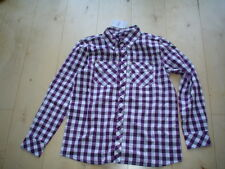 Chemise à carreaux, beere-grau-weiß de Mills gr. gr.128-140