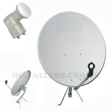 "30"" INCH SATELLITE TV DISH FTA ANTENNA MOUNT TWIN DUAL KU BAND LNB"