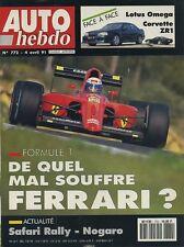 AUTO HEBDO n°772 du 4 Avril 1991 OMEGA LOTUS CORVETTE ZR1