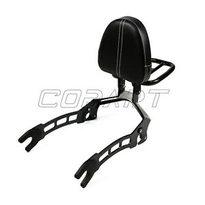 Passenger Backrest Sissy Bar Cushion Pad Black For Indian Scout Sixty 2015-2019