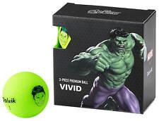 Volvik Vivid Marvel Hulk Golf Balls 4 Pack Green The Avengers New