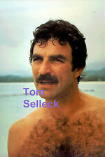TOM SELLECK SEXY HUNK HAIRY CHEST BARECHEST BEEFCAKE MAGNUM P.I. HAWAII PHOTO A