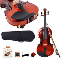 3/4 Maple Wood Acoustic Violin Fiddle + Case + Bow + Rosin +String+Shoulder Rest