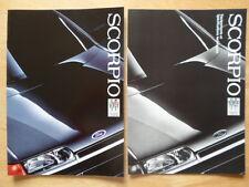 Ford Scorpio 1986 Francés Mkt Ventas + Spec Folletos-cl Gl Ghia 4x4 2.8 efi