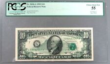 1993 US $10 ERROR 100% OFFSET CHICAGO FEDERAL RESERVE PCGS CHOICE ABOUT NEW 55