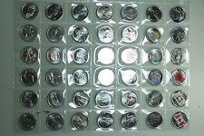MASSIVE Canada 25 Cent Quarter Collection LOT! -  44 Quarters in Mint State!