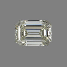 Lovely 9 X 7 MM 2.25 Carat Off White Emerald Shape Cut Loose Moissanite 4 Ring
