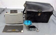 Polaroid 210 Land Camera Automatic w/ Carry Case, 268 Flash, Manuals. Untested