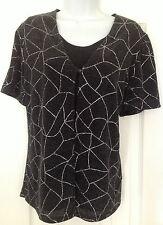 Ladies Berkatex Top Silver & Black Size 16