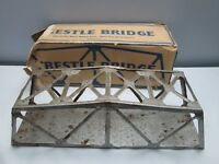 Marx Illinois Central Toy Train Trestle Bridge All-Metal Rusted Bent