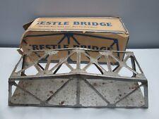 Marx Illinois Central Toy Train Trestle Bridge All-Metal Rusted Bent