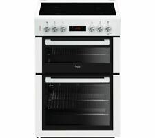BEKO XTC653W 60 cm Electric Ceramic Cooker - White - Currys