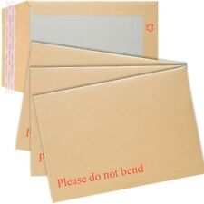 250 A5/C5 PLEASE DO NOT BEND HARD CARD BOARD BACKED ENVELOPES BROWN MANILLA