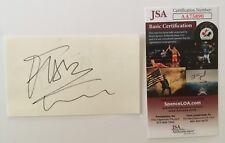 Milli Vanilli Signed Autographed 3x5 Cards JSA Certified Rob Pilatus Fab Morvan